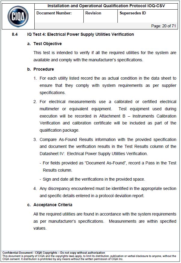 test scripts case description