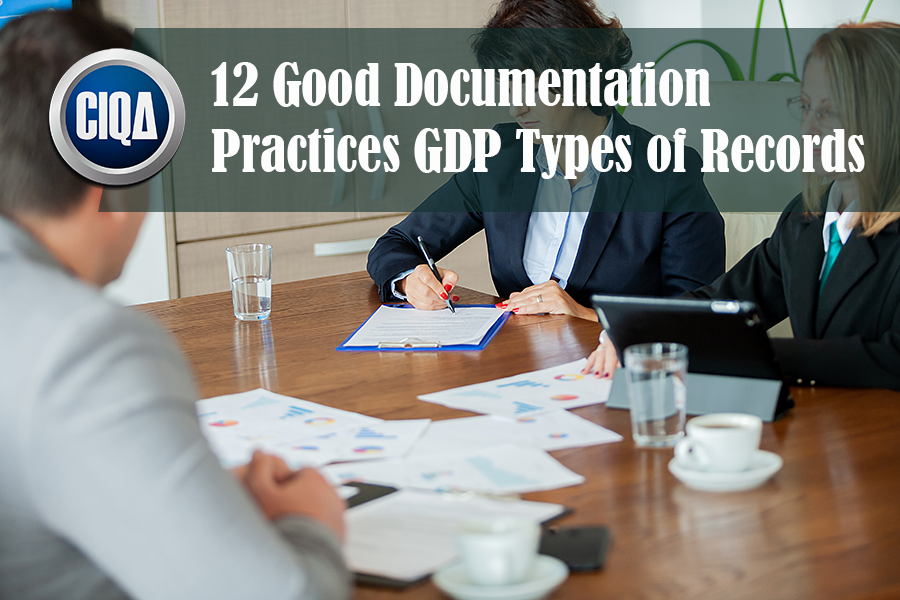 What Types of GDP records exists ruled by the cGMP?