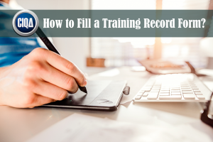 How to Fill a Training Record Form as per cGMP Requirements