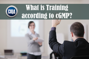 What is Training according cGMP