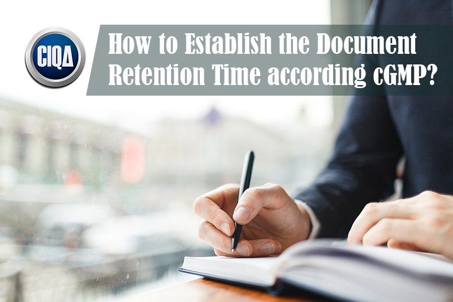 The Best Practices in Document Retention Time as per GDP.