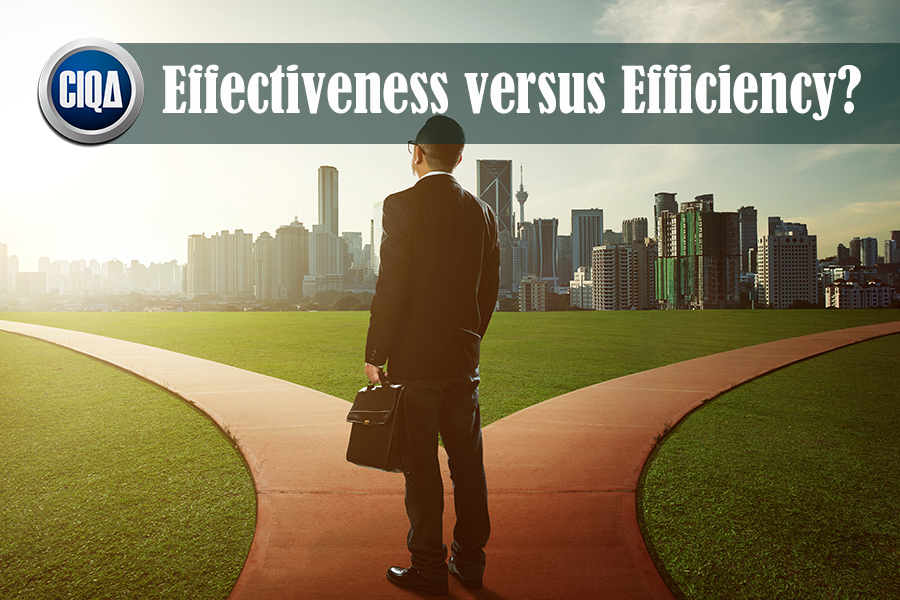 What is Effectiveness Versus Efficiency According to Process Excellence?