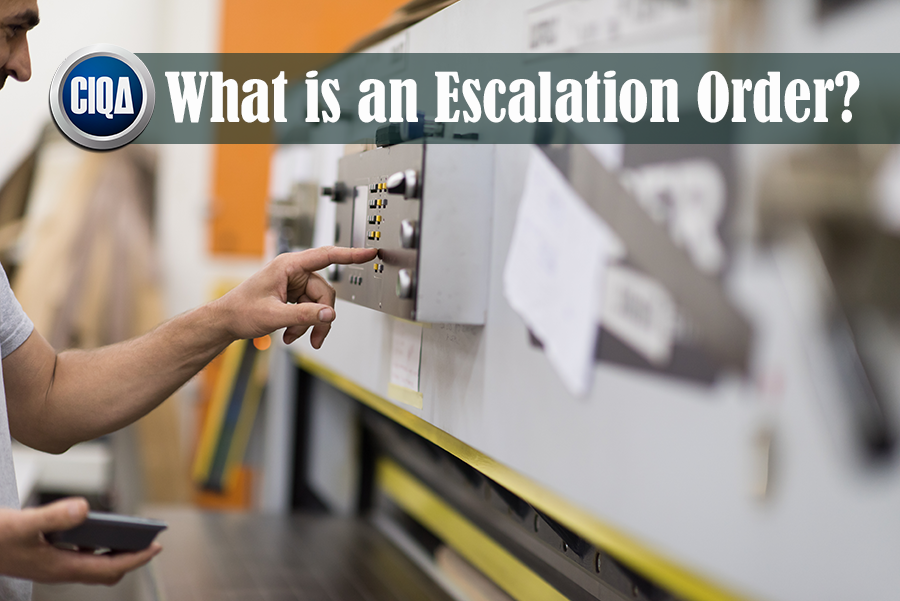 Understanding What is an Escalation Order as per Lean Manufacturing.