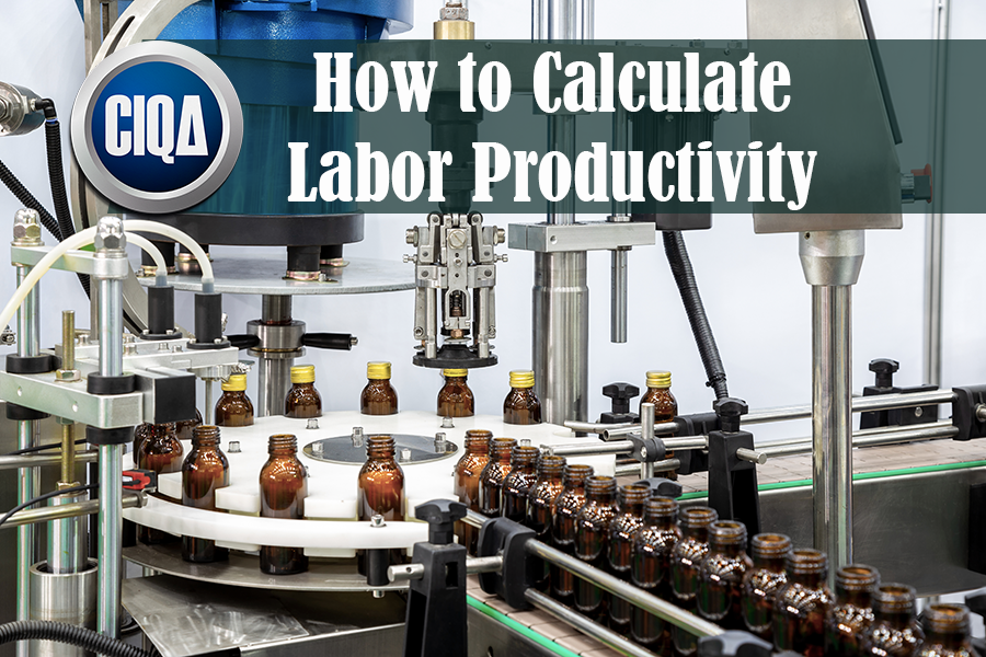 how to calculate labor productivity and production output