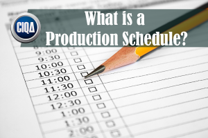 what is a production schedule