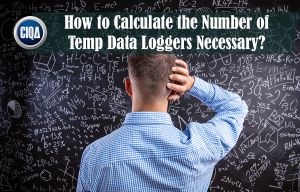 How to calculate the number of temperature data loggers necessary