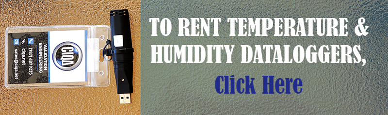 To rent temperature and humidity data loggers