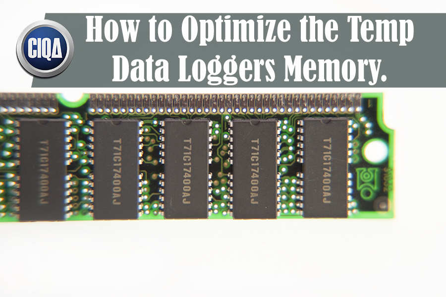 how to optimize the temperature data loggers memory