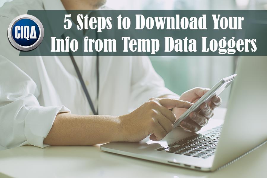 temperature data loggers downloading