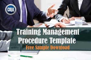 Training Management procedure template - free download sample