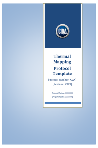 CIQA Thermal Mapping Protocol Template - Full Version - front page 1